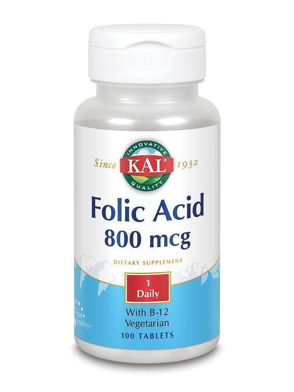 Foliumzuur 800 mcg & B12